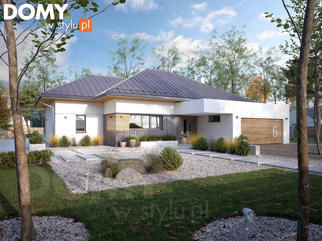 wizualizacja gotowego domu z projektu